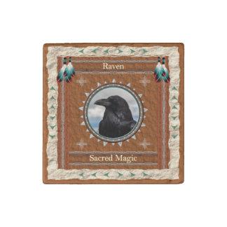 Raven  -Sacred Magic- Primed Marble Magnet