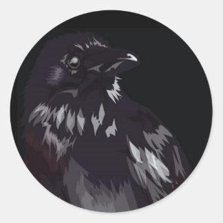 raven-shirt classic round sticker