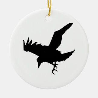 Raven Silhouette Christmas Ornament