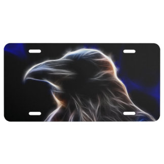 Raven Silhouette License Plate