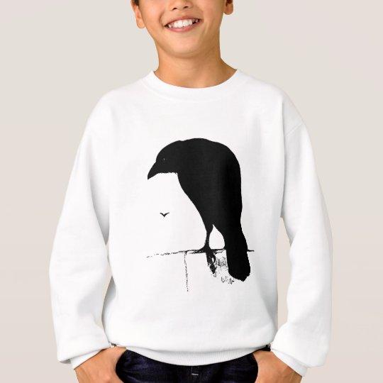 Raven Silhouette - Vintage Goth Ravens & Crows Sweatshirt