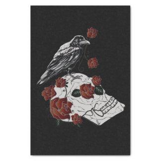 """Raven, Skull & Roses Gift Tissue Paper 10"""" X 15"""" Tissue Paper"""