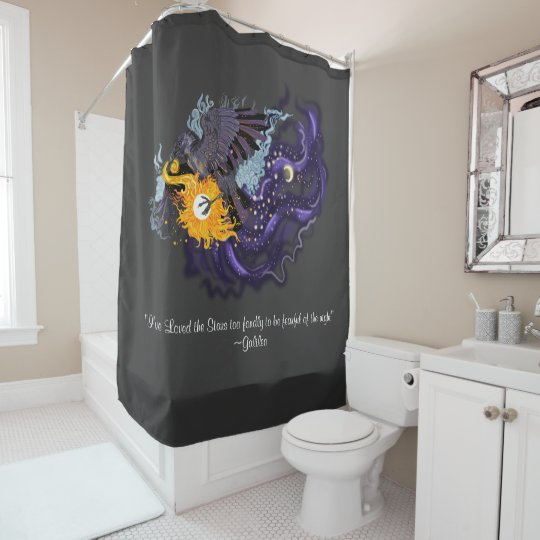 Raven Sky Folklore Shower Curtain