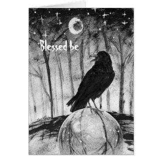 """Raven Sphere """"Blessed be"""" Card"""