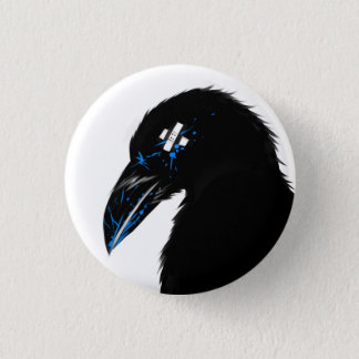 Raven splat! 3 cm round badge
