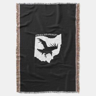 Raven Squadron Throw Blanket