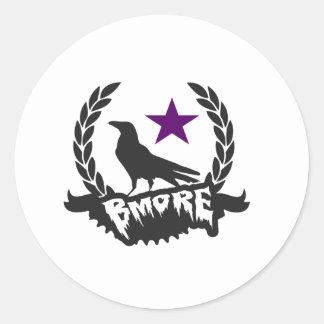 Raven Star Round Sticker