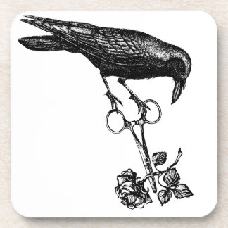 Raven Steals the Rose Coasters