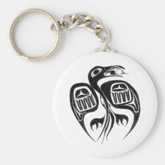 raven steals the sun basic round button key ring