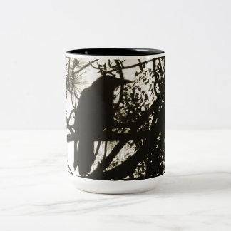 Raven Steampunk Two-Tone Coffee Mug