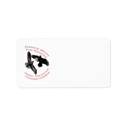 Raven the Transformer Address Label