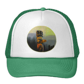 Raven Totem Pole Trucker Hats