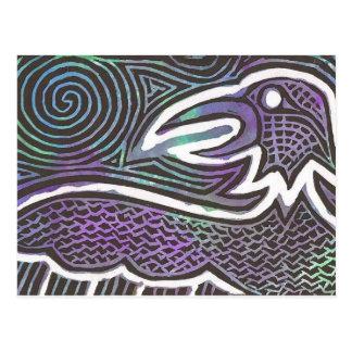 Raven Totem Postcard