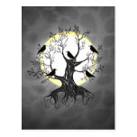 Raven Tree with Moon Postcard