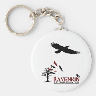 Ravenkin Specialty Basic Round Button Key Ring