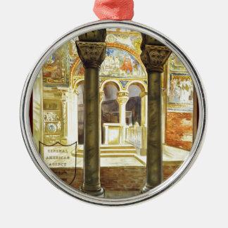 Ravenna, Italia Silver-Colored Round Decoration
