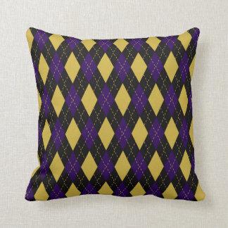 Ravens Colors Argyle Pattern Throw Pillow