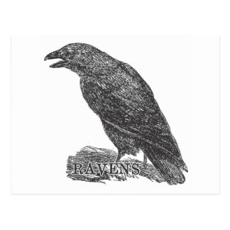 Ravens Gear from a Bygone Day Postcard