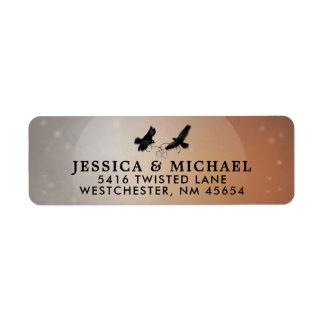 Ravens Halloween Wedding Return Address Label