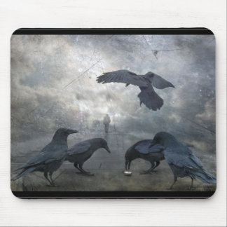 Ravens play with lost Time Mouse Pad