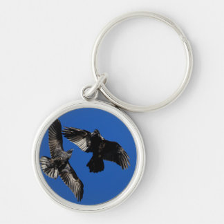 ravens Silver-Colored round key ring