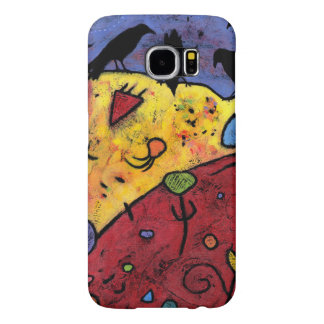 Ravens Spinning Dreams, Whimsical Birds Samsung Galaxy S6 Cases