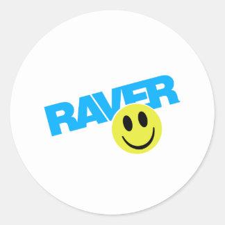 Raver - Raver Music DJ Clubbing Rave Round Sticker