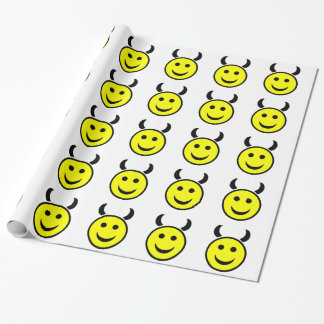 Raver Smiley Face Wrapping Paper