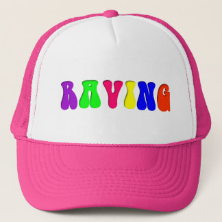 RAVING Rainbow Trucker Hat