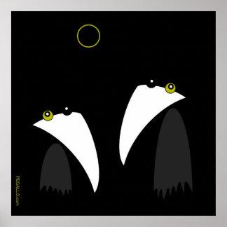 Raving Ravens - lunar Eclipse Posters