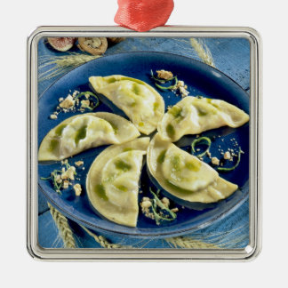 Ravioles with Bleu d'Auvergne For use in USA Christmas Ornament