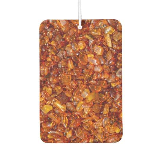 Raw amber pebbles car air freshener