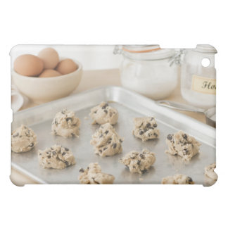 Raw cookies on baking tray iPad mini cover