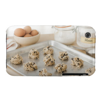 Raw cookies on baking tray iPhone 3 cases