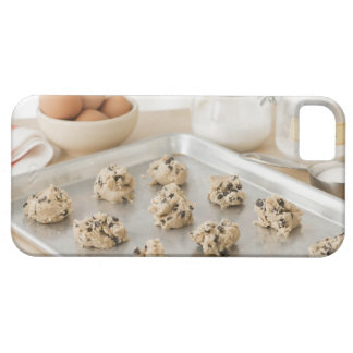 Raw cookies on baking tray iPhone 5 cases