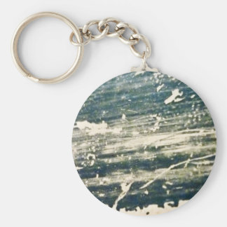 Raw Fabric Texture Basic Round Button Key Ring
