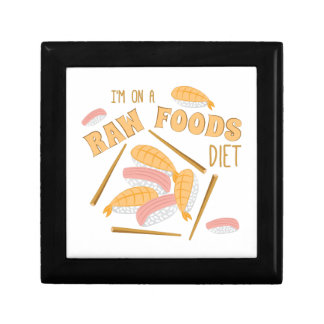 Raw Foods Diet Small Square Gift Box