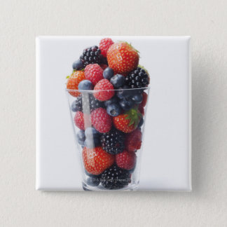 Raw fruit shake 15 cm square badge