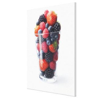 Raw fruit shake canvas print