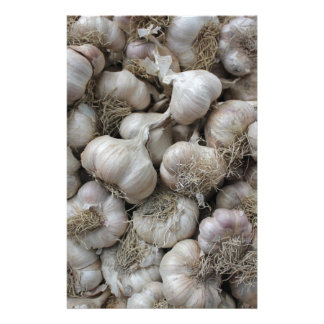 Raw Garlic Seasoning Healthy Food Wallpaper Stationery
