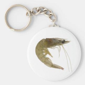 Raw grey prawn basic round button key ring