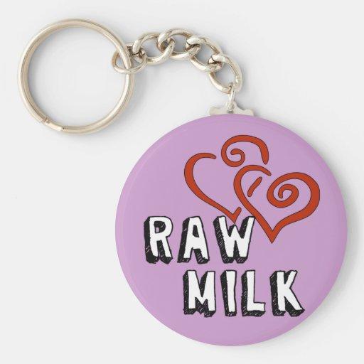 Raw Milk Love Key Chain