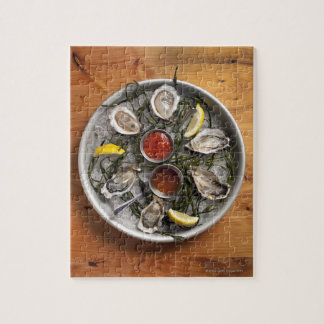 Raw oysters arranged jigsaw puzzle