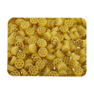 Raw pasta background rectangle magnets