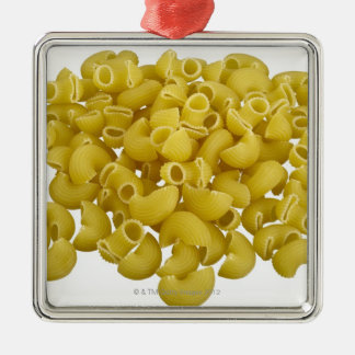 Raw pasta isolated on white background christmas ornament