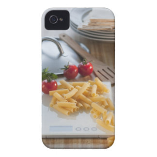Raw pasta on weight scale iPhone 4 cover