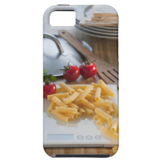 Raw pasta on weight scale iPhone 5 case