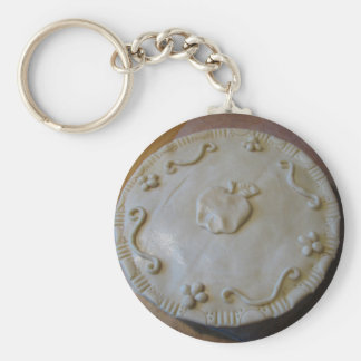 Raw Pie Basic Round Button Key Ring
