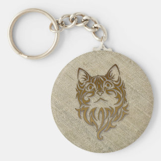 raw silk for kitty basic round button key ring