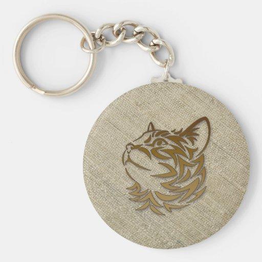 raw silk for kitty key chains